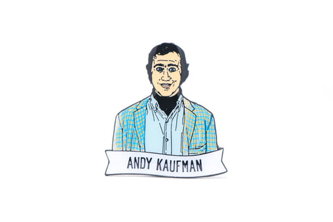 Andy Kaufman Enamel Pin