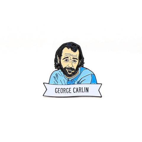 George Carlin Enamel Pin - National Comedy Center