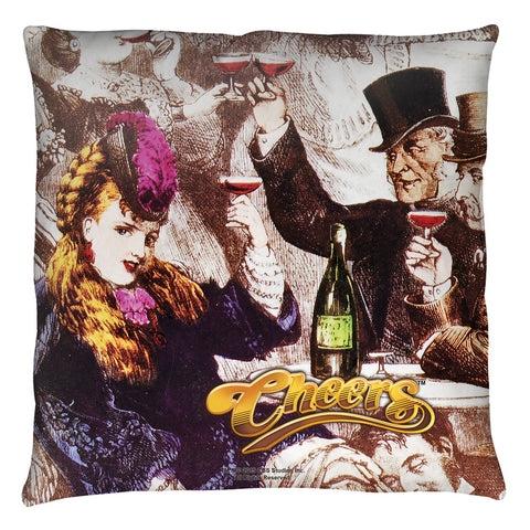 Cheers: Old Fashioned Throw Pillow