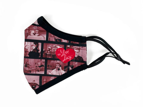 I Love Lucy Filmstrip Face Mask