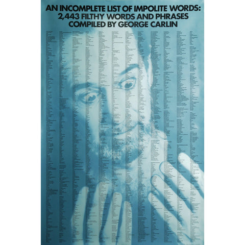 George Carlin Impolite Words Poster