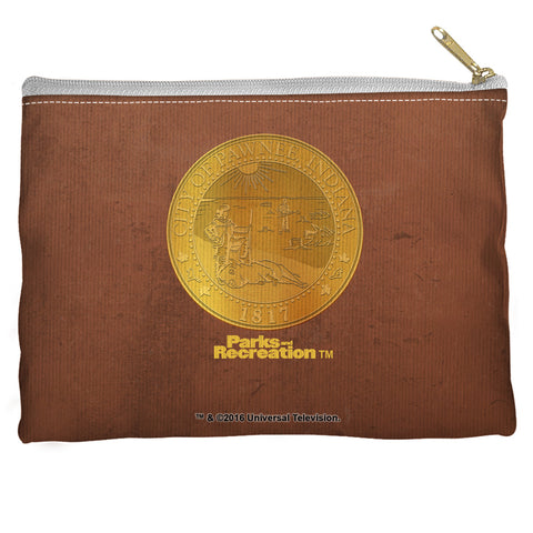 Parks & Rec: Pawnee Seal Square Accessory Pouch
