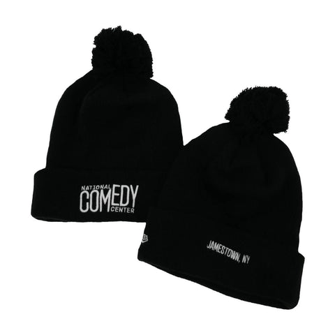 New Era NCC Knit Pom Beanie  - Black & White - National Comedy Center