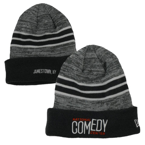 New Era Striped NCC Beanie - Grey & Orange - National Comedy Center