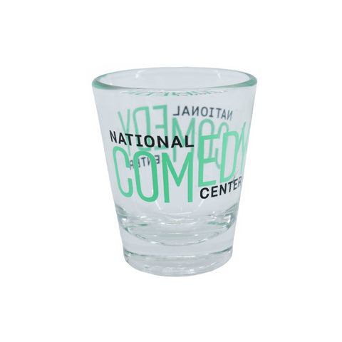 National Comedy Center Double Logo Shot Glass - National Comedy Center
