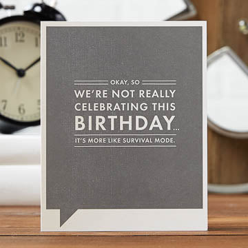 Not Really Celebrating Card - The Comedy Shop