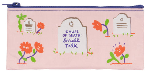 Cause of Death: Small Talk Pencil Case - National Comedy Center