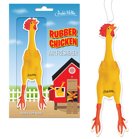 Rubber Chicken Air Freshener - National Comedy Center