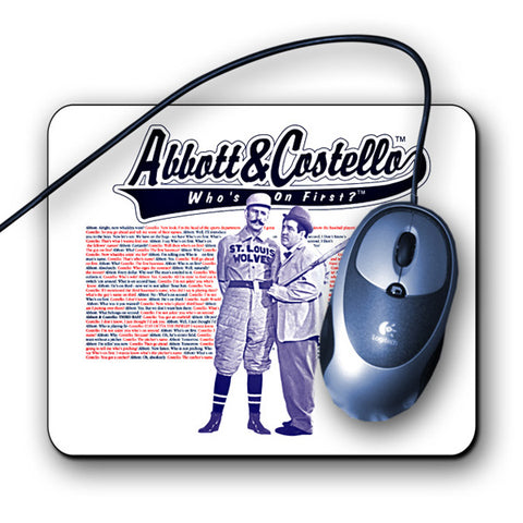 Abbot & Costello Mouse Pad - National Comedy Center
