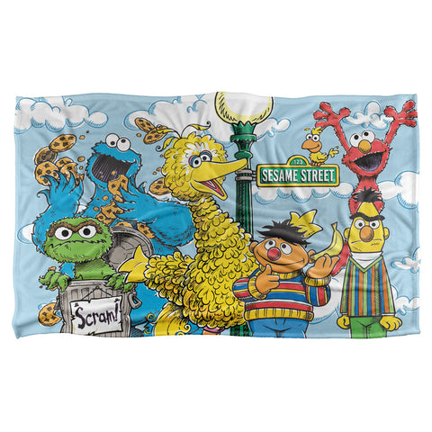Sesame Street: Retro Character Blanket - National Comedy Center