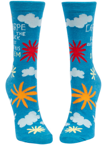 Carpe the F*** Out of This Diem Ladies Socks - National Comedy Center