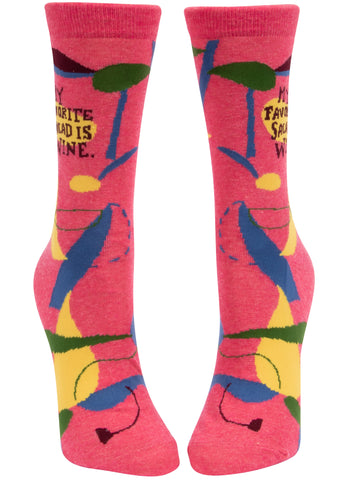 My Favorite Salad Ladies Socks - National Comedy Center