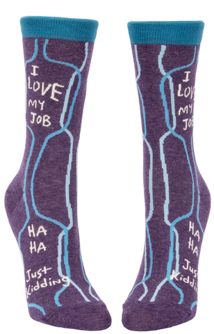 I Love My Job Ladies Socks - National Comedy Center