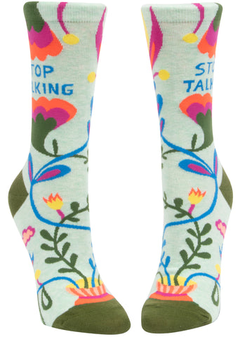 Stop Talking Ladies Socks - National Comedy Center