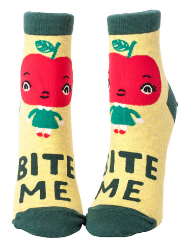 Bite Me Ladies Ankle Socks - National Comedy Center