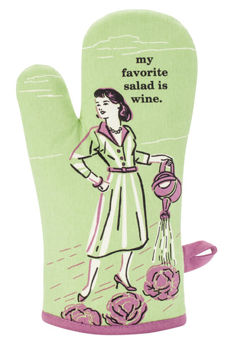 My Favorite Salad is Wine Oven Mitt - National Comedy Center