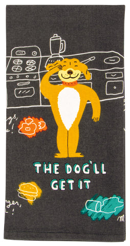 The Dog'll Get It Dish Towel - National Comedy Center