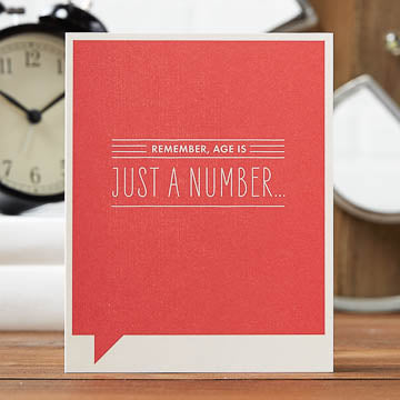 Age Is Just a Number Card - National Comedy Center