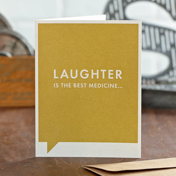 Laughter Best Medicine Card - National Comedy Center