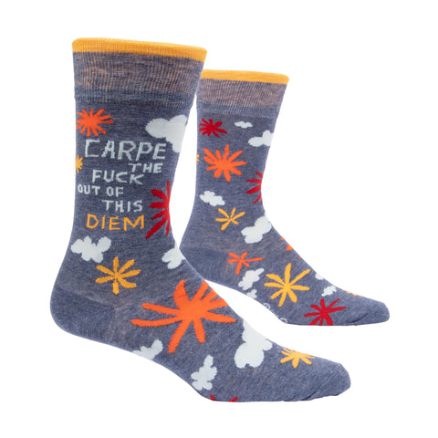 Carpe The F*** Out Of This Diem Men's Socks - National Comedy Center