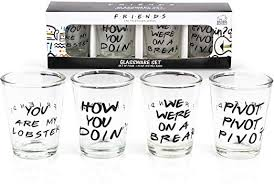 Friends: Quotes Shot Glasses - National Comedy Center