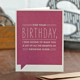 For Your Birthday I Was Card