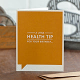 A Little Health Tip Card