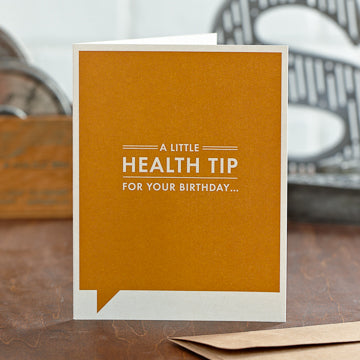 A Little Health Tip Card - National Comedy Center