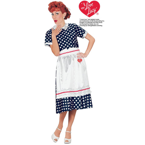 I Love Lucy Adult Size Classic Polka Dot Dress Costume