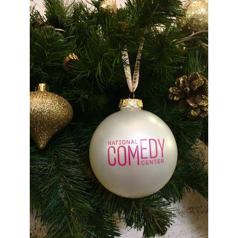 NCC Logo Ornament Pink & White - National Comedy Center