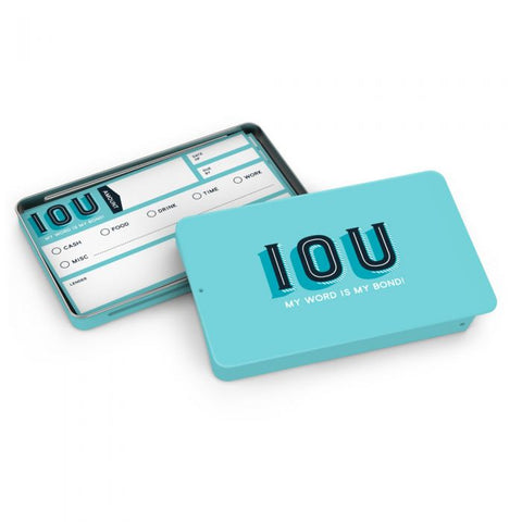 IOU Social Currency Cards Tin