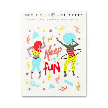 Keep it Fun Stickers - National Comedy Center