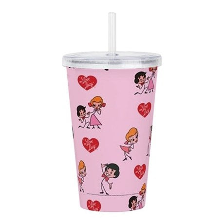 I Love Lucy Lucy & Ricky Stick Figure Acrylic Double Wall Tumbler