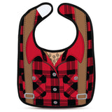 CHILL, BABY Dressed to Spill Lumberjack Bib and Teether Set - National Comedy Center