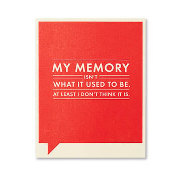 Memory Isn't What Card - The Comedy Shop