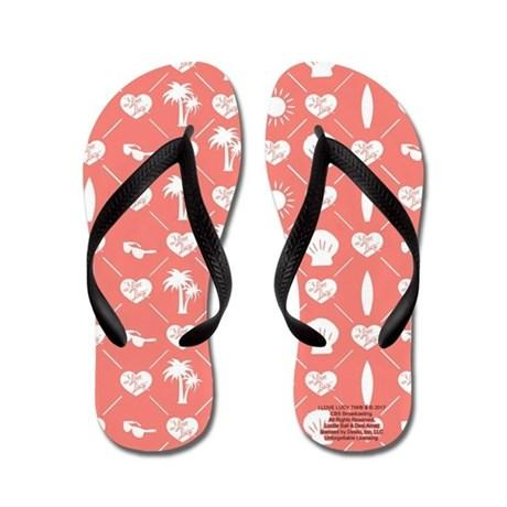 I Love Lucy: Pink Logo Women's Flip Flops - National Comedy Center