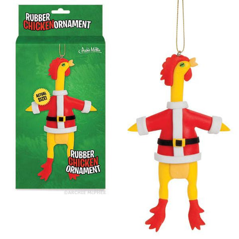 Santa Rubber Chicken Ornament