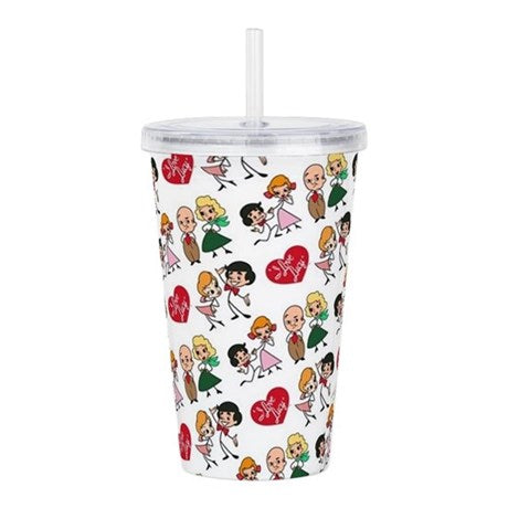 I Love Lucy Character Stick Figure Acrylic Double Wall Tumbler