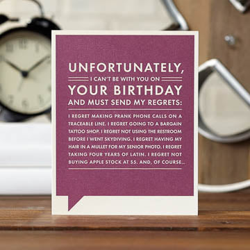 Unfortunately Card - National Comedy Center