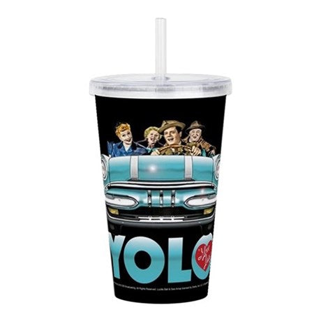 I Love Lucy YOLO Acrylic Double Wall Tumbler - National Comedy Center