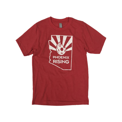 Phoenix Rising Youth State Flag Tee - Red