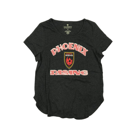Phoenix Rising Women's Sportiqe White Logo Comfy Tee - Red