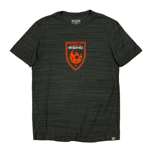 Phoenix Rising Youth Levelwear Red Shield Anchor Tee - Charcoal