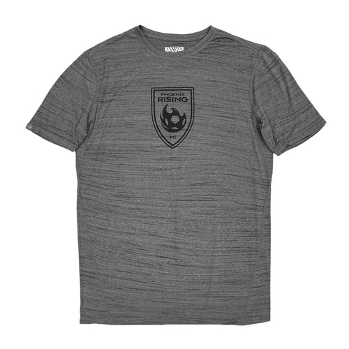 Phoenix Rising Youth Levelwear Black Shield Anchor Tee - Gray