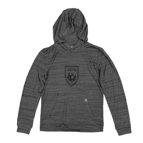 Phoenix Rising Youth Levelwear Black Shield Anchor Hoodie - Gray
