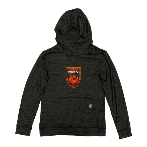 Phoenix Rising Youth Levelwear Red Shield Anchor Hoodie - Black