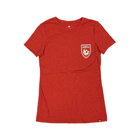 Phoenix Rising Women's Sportiqe Fireball Tee - Red