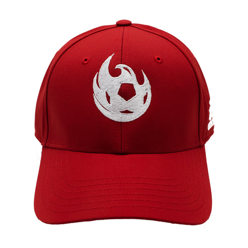 Phoenix Rising Adidas White Fireball Structured Adjustable