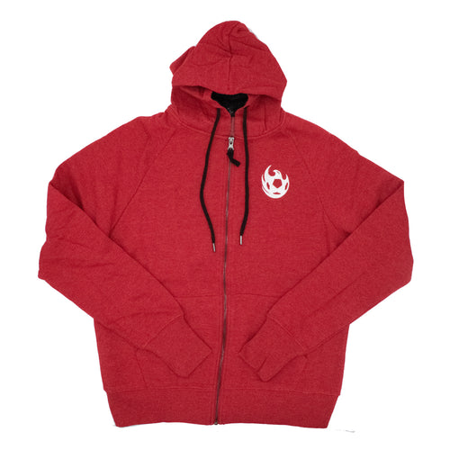 Phoenix Rising Women's Colosseum Genius Full Zip Hoodie - Red
