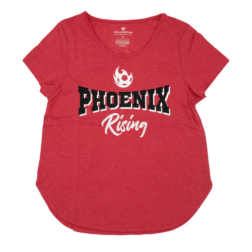 Phoenix Rising Women's Colosseum Professor Proton Tee - Red